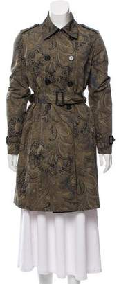 Etro Printed Double-Breasted Trench Coat