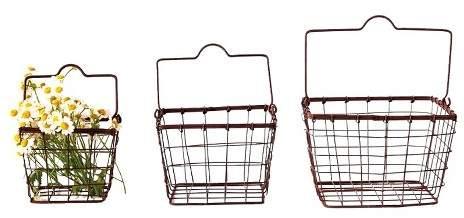 3R Studios Square Metal Baskets