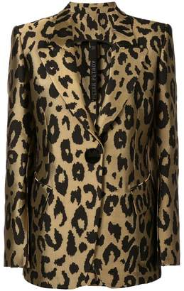 Petar Petrov Justin tailored leopard print jacket