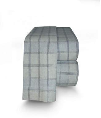 La Rochelle Flannel Plaid Sheet Set Queen Bedding