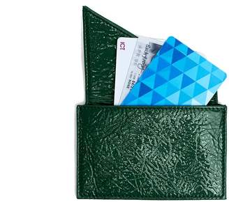 Holly & Tanager Insider Card Holder Wallet In Emerald Patent Leather