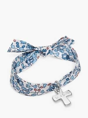 Silver Cross Merci Maman Personalised Sterling Liberty Bracelet