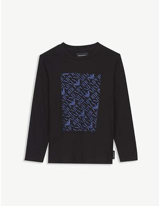 Armani Junior Graphic cotton long-sleeve T-shirt 4-16 years