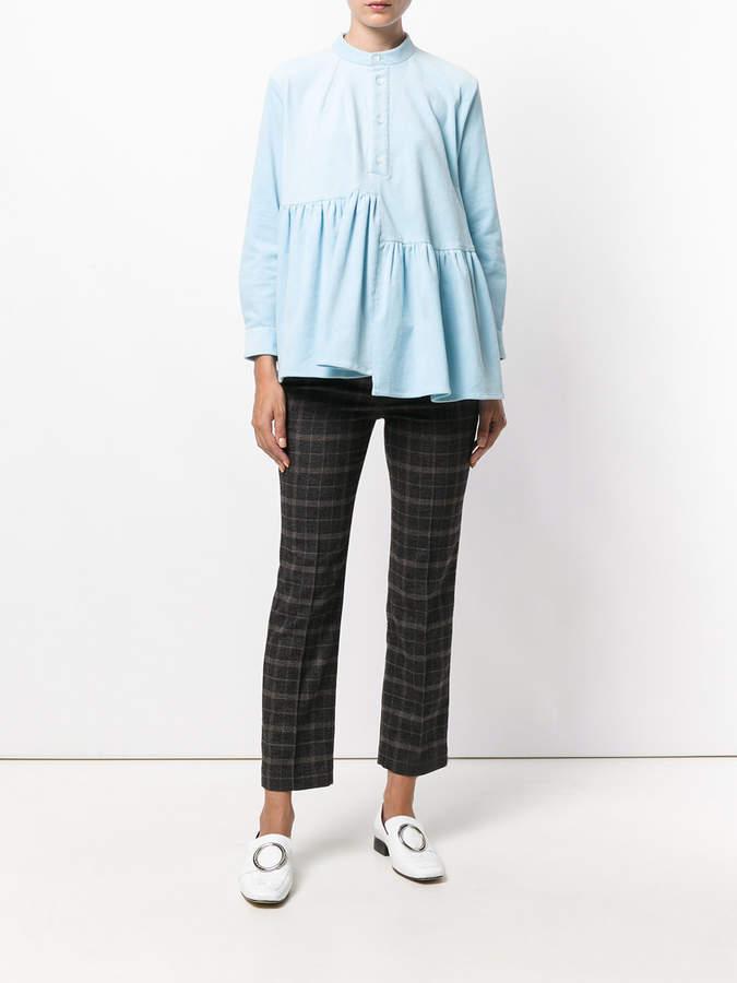 Peter Jensen corduroy frill smock blouse
