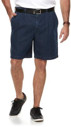 Croft & Barrow Big & Tall Relaxed-Fit Side-Elastic Denim Pleated Cargo Shorts