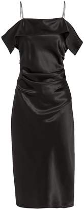 Helmut Lang Front Drape Satin Dress
