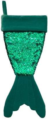St Nicholas Square Sequin Mermaid Tail Christmas Stocking