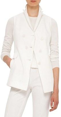 Women's Akris Punto Seersucker Vest $895 thestylecure.com