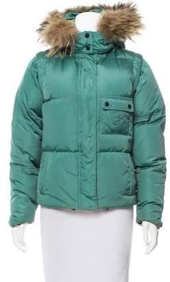 Burberry Fur-Trimmed Down Coat