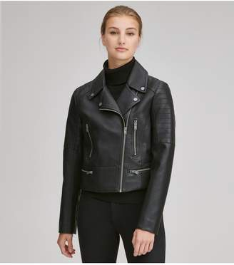 Andrew Marc Bowne Faux Leather Moto Jacket
