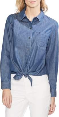Vince Camuto Tie Front Denim Shirt