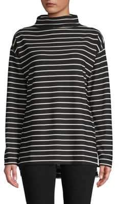 Isaac Mizrahi IMNYC Striped Long-Sleeve Top