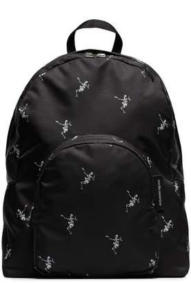Alexander McQueen black Dancing Skull print backpack