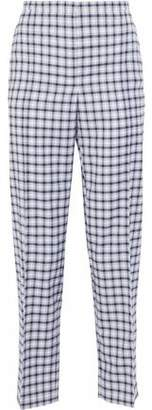 Nina Ricci Checked Wool-Blend Twill Straight-Leg Pants