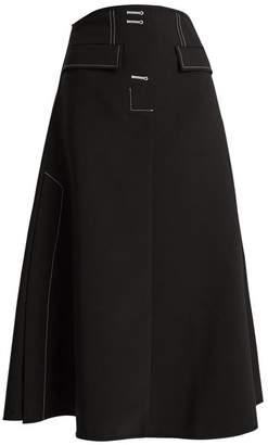 Ellery Eunice A Line Midi Skirt - Womens - Black