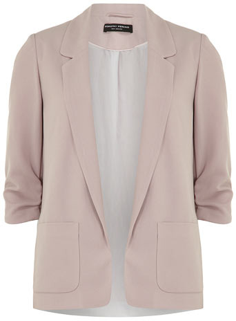 Dorothy Perkins Pink soft longline blazer
