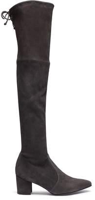 Stuart Weitzman 'Thighland' stretch suede thigh high boots