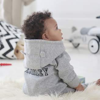 My 1st Years Grey Hooded Jersey Onesie With Ears