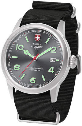 Swiss Military BY CHARMEX By Charmex Vintage Mens Black Strap Watch-78335_8_G