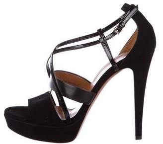 Gucci Suede Platform Strap Sandals