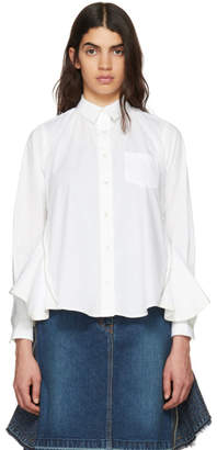 Sacai White Zip Panel Shirt