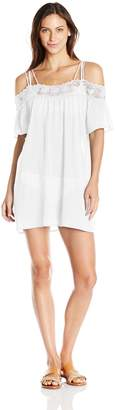 LaBlanca La Blanca Women's Island Fare Off the Shoulder Dress Cover up