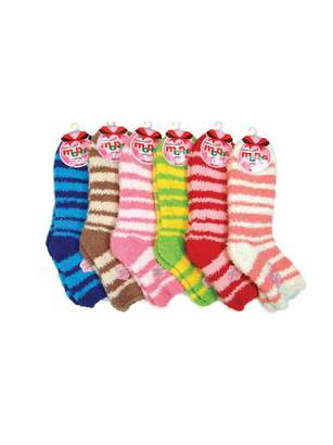 Mamia 6 Pairs Womens Cozy Slipper Socks Fuzzy Sock Multi Color