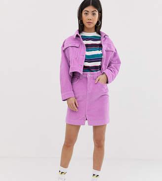 Collusion COLLUSION Petite denim mini skirt in cord