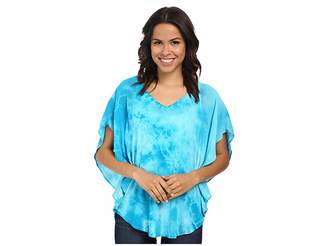 Miraclebody Jeans Lisa Flutter Sleeve Top w/ Body-Shaping Inner Shell Women's Short Sleeve Pullover