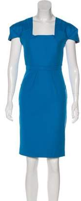 Roland Mouret Cap Sleeve Knee-Length Dress