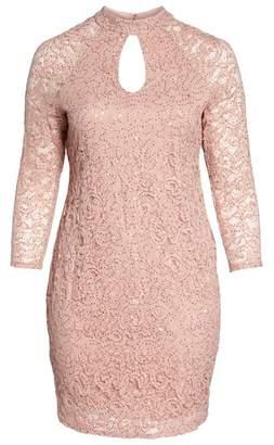 Marina Sequin Keyhole Sheath Dress