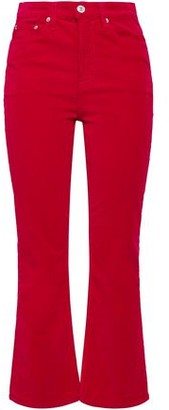 RE/DONE Stretch-cotton Velvet Flared Pants