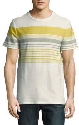 HUGO BOSS Striped Cotton and Linen Tee