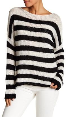 360 Cashmere Nicole Striped Cashmere Sweater $287.50 thestylecure.com