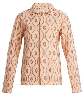 Marni Embroidered Eyelet Taffeta Jacket - Womens - Pink Multi