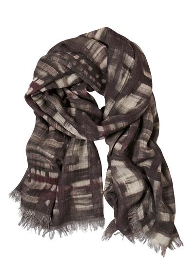 Contileoni Printed Wool Gauze Scarf