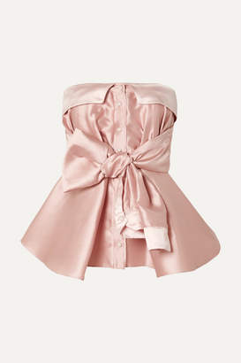 Alexis Mabille Bow-detailed Satin Top - Blush