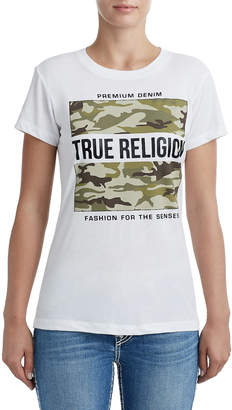True Religion WOMENS CAMO LOGO GRAPHIC TEE