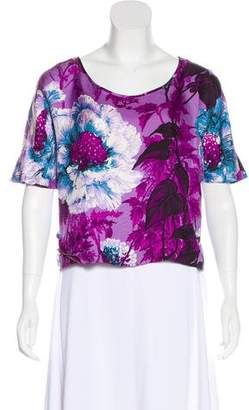 Chris Benz Silk Printed Blouse