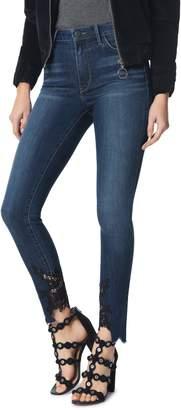 Sam Edelman The Stiletto High Waist Lace Hem Ankle Skinny Jeans