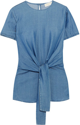 MICHAEL Michael Kors - Chambray Top - Blue $125 thestylecure.com