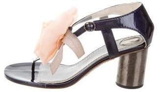 Reed Krakoff Patent Leather Thong Sandals