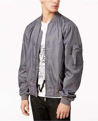 Versace Men's Embroidered Logo Bomber Jacket