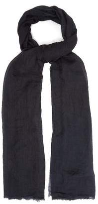 Title Of Work - Solid Cashmere Scarf - Mens - Black