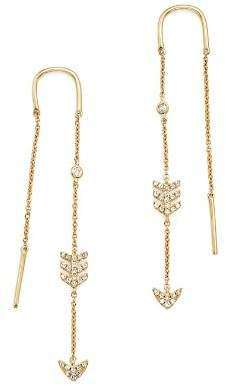 KC Designs 14K Yellow Gold Diamond Micro Pavé Drop Chain Earrings