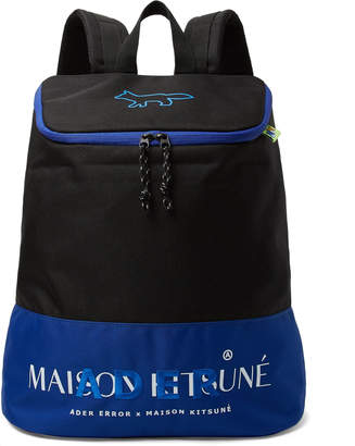 MAISON KITSUNÉ ADER error Logo-Embroidered Printed Canvas Backpack - Men - Black
