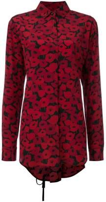 Saint Laurent poppy print shirt