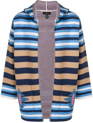 Alanui colour-block striped hoodie