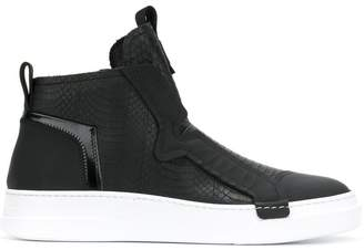 Bruno Bordese paneled high tops