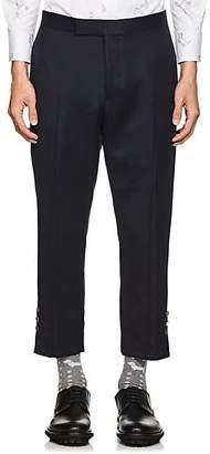Thom Browne Men's Wool Slim Crop Trousers - Navy